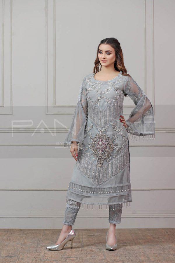 ASH ABSTRACT luxury pret kurti