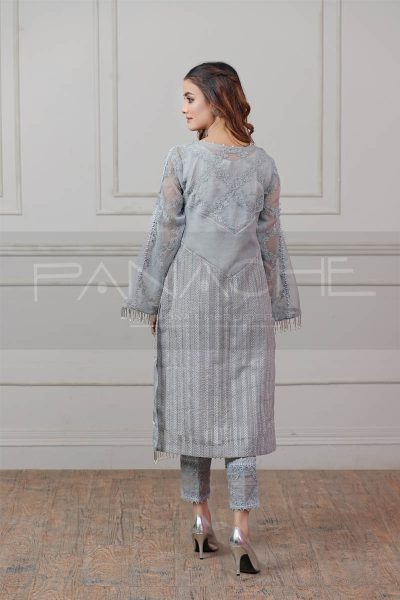 ASH ABSTRACT luxury pret kurti